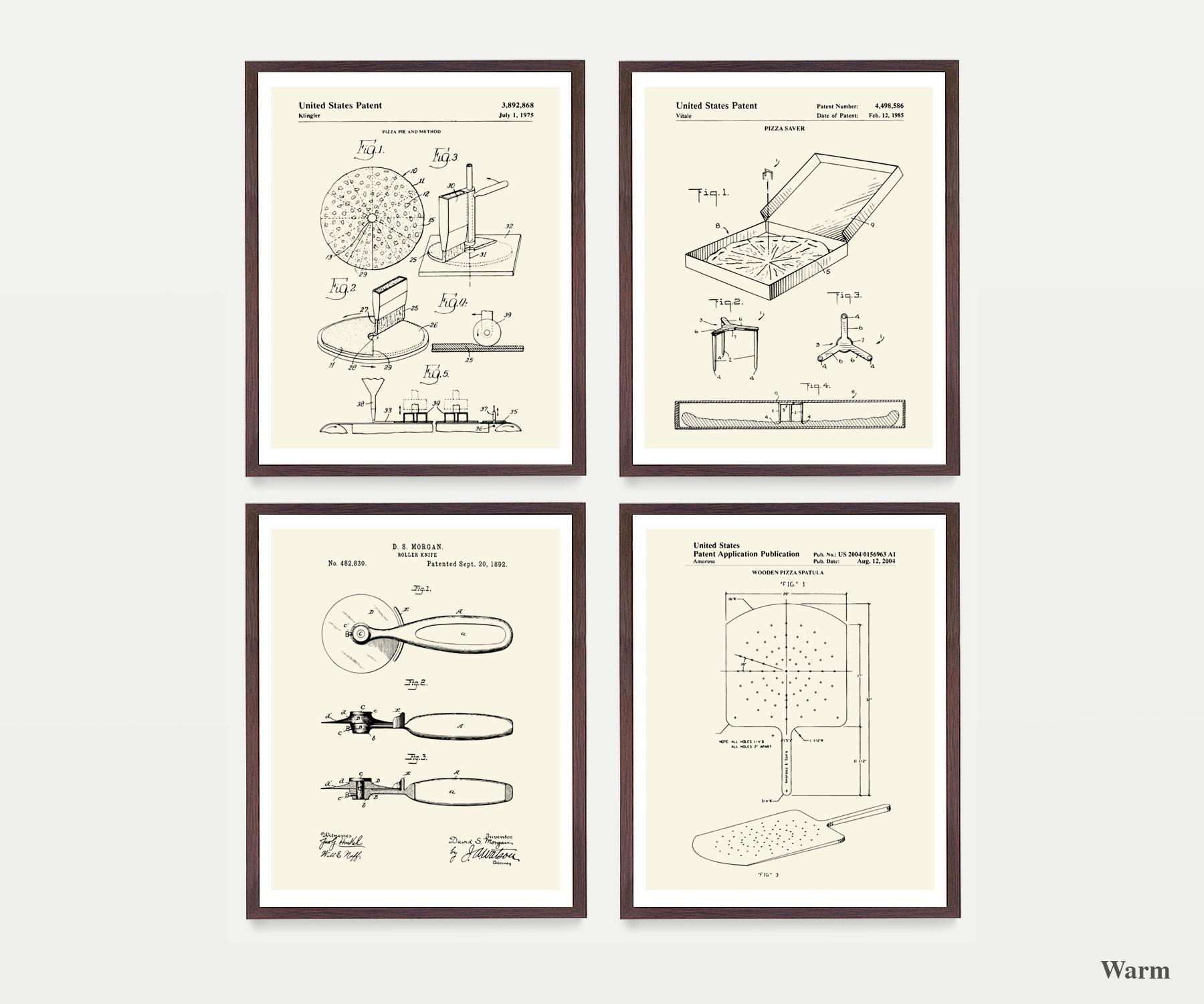 Kitchen Wall Decor Pizza Cutter Patent Art Print 1