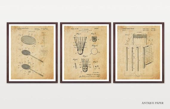 Badminton Patent Art - Badminton Poster - Badminton Wall Art - Badminton Design - Badminton Decor - Badminton Patent Poster - Shuttlecock