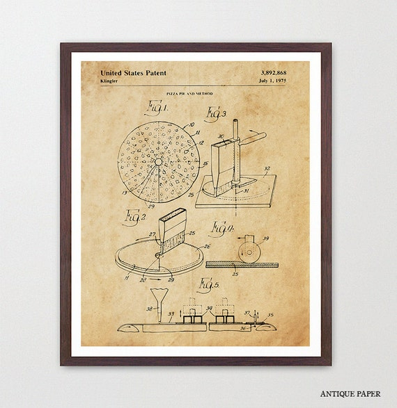 Pizza Patent Art - Pizza Poster - Pizza Pie - Pizza Wall Art - Pizza Art - Pizza Decor - Pizza Print - Kitchen Art - Kitchen Poster  Canvas