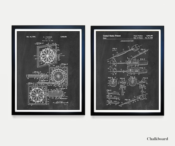 Dartboard Patent Art - Darts - Dart Patent - Darts Poster - Dartboard Art - Dart - Dart Patent - Wall Art - Home Renovation - Basement Art