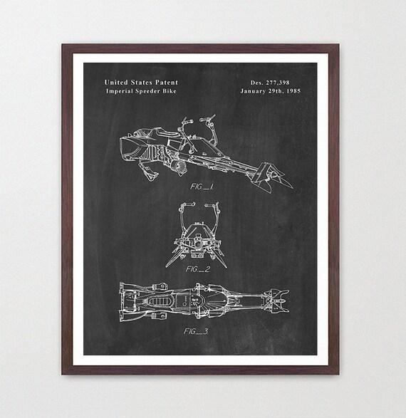 Star Wars Imperial Speeder Patent Print Custom Listing