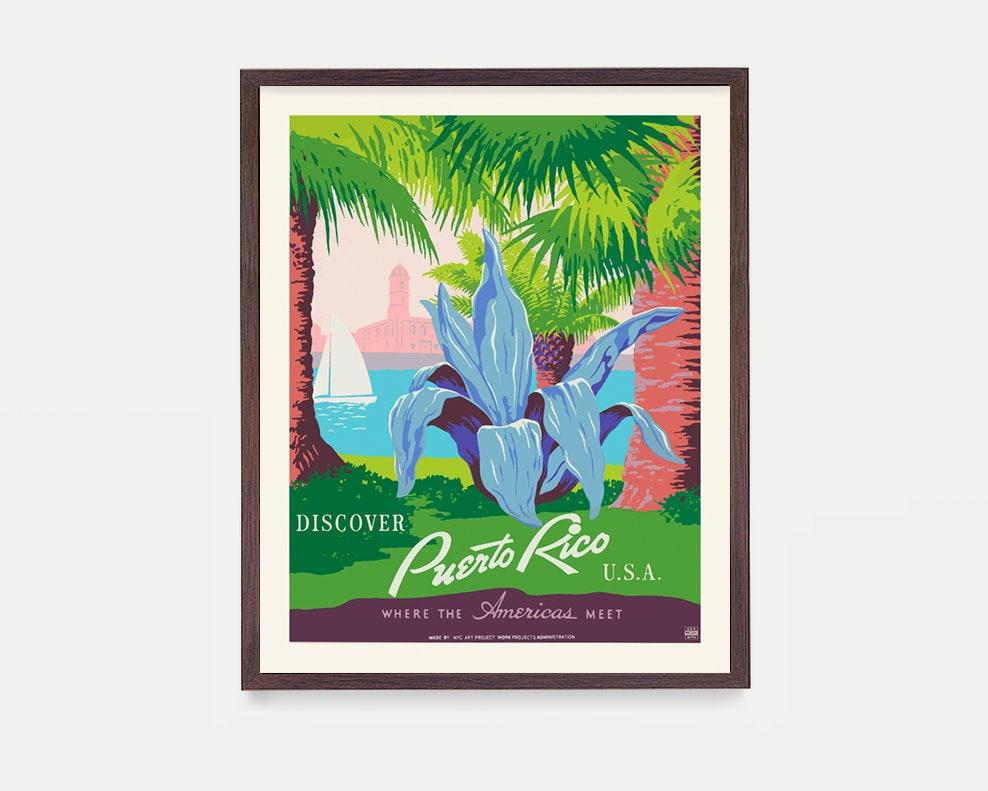 Puerto Rico Poster - WPA Poster - National Park Art - Puerto Rico ...