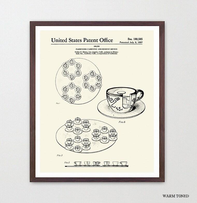 Disneyland Patent - Disneyland Patent Art - Tea Cups - Tea Cup Ride ...