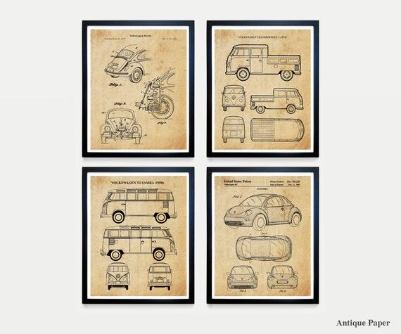 VW Bug Patent Art - VW Poster - VW Patent - Volkswagen Bug - Volkswagen Paten - Volkswagen Wall Art - Vw Bus - Volkswagen Bus Patent - print