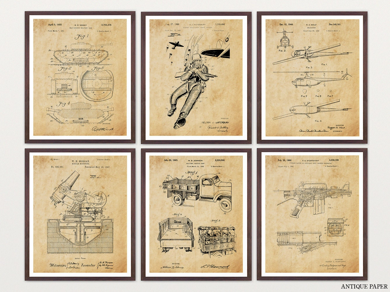 Military Patent Posters - Military Art - Military Wall Art - Armed ...