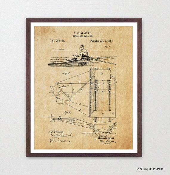 Art De Brevet D Aviron Bateau De Ligne Brevet De Etsy