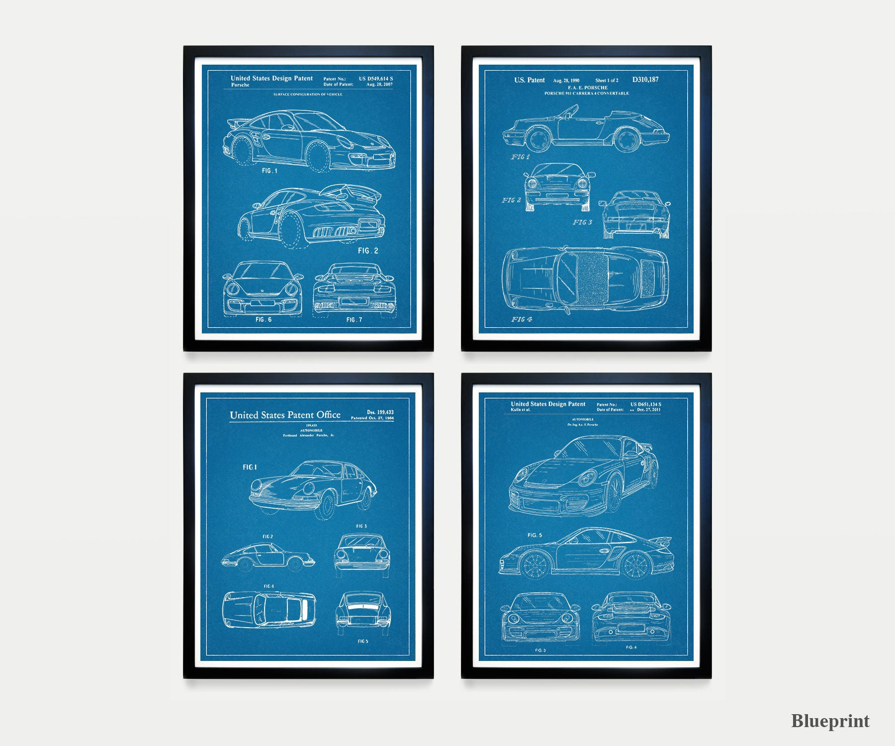 Porsche poster porsche patent porsche carrera car art car 1 2 3 malvernweather Choice Image