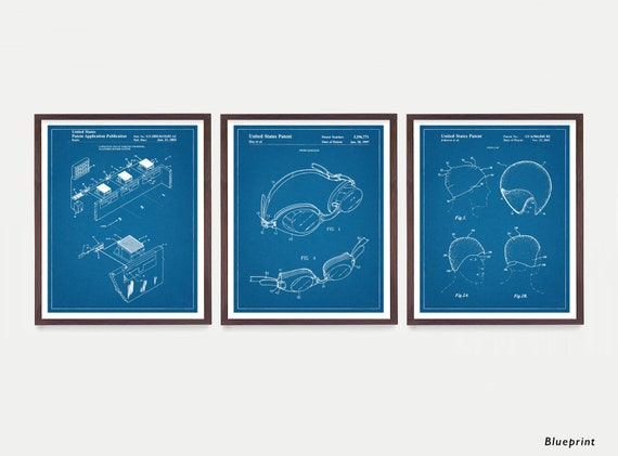 Swimming Art - Swimming Patent Art - Swimming Poster - Swimmer - Goggles - Swim Cap - Swim Decor - Pool - Pool Art - Swim Poster
