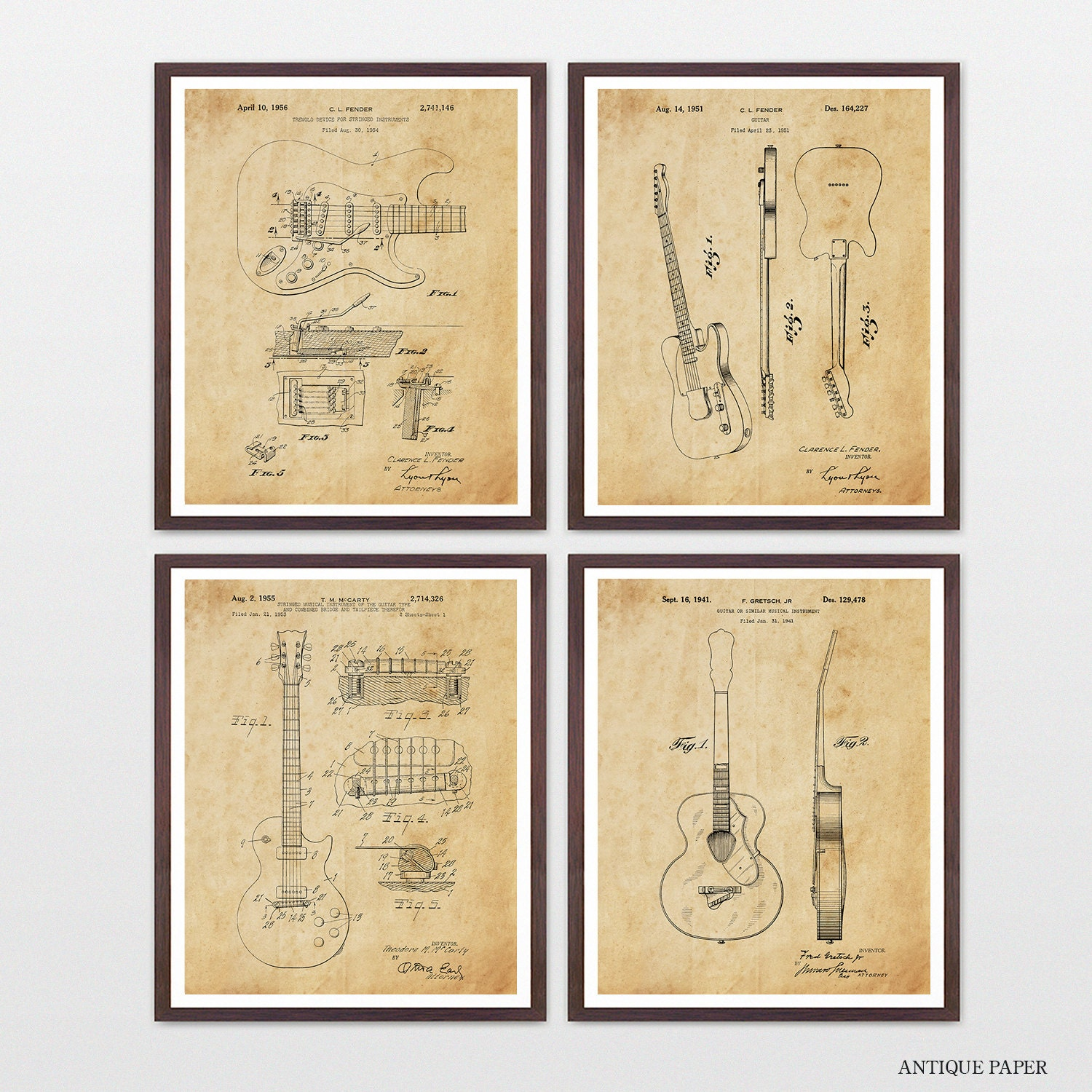 Guitar Patent Collection - Les Paul - Fender - Gretsch - Guitar ...
