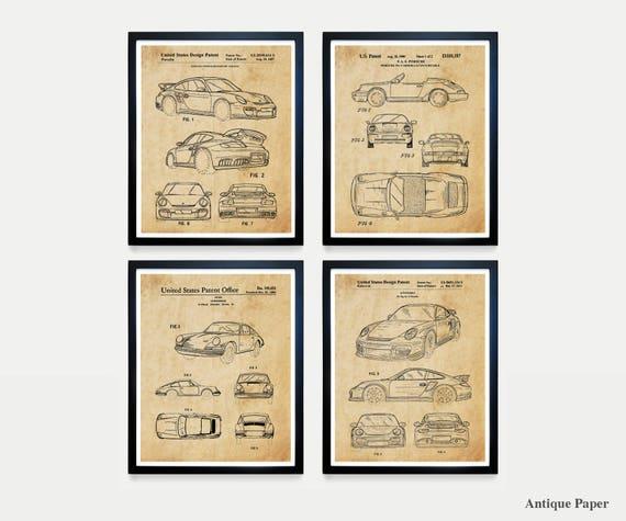 Porsche Poster - Porsche Patent - Porsche Carrera - Car Art - Car Patent - Sports Car - Porsche Wall Art - Vintage Porsche - Carrera Patent