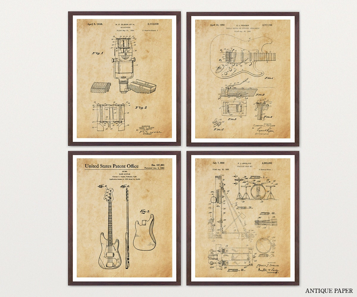 Inventions of Rock n Roll - Fender Poster -Fender Wall Art - Guitar ...