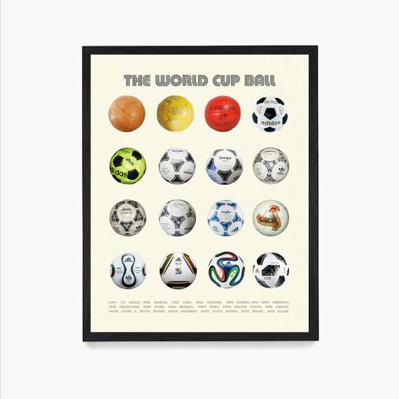 World Cup Ball Poster, Soccer Wall Art, Evolution of the Soccer Ball, Soccer Gift, Soccer Theme, Soccer Gift, Football Poster, Football Gift