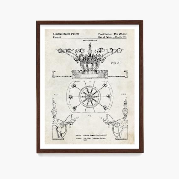 Disneyland Patent Art, Disneyland Patent Art, Dumbo, Disneyland Art, Disneyland, DisneyWorld Art, Girls Room Art, Girls Room Poster