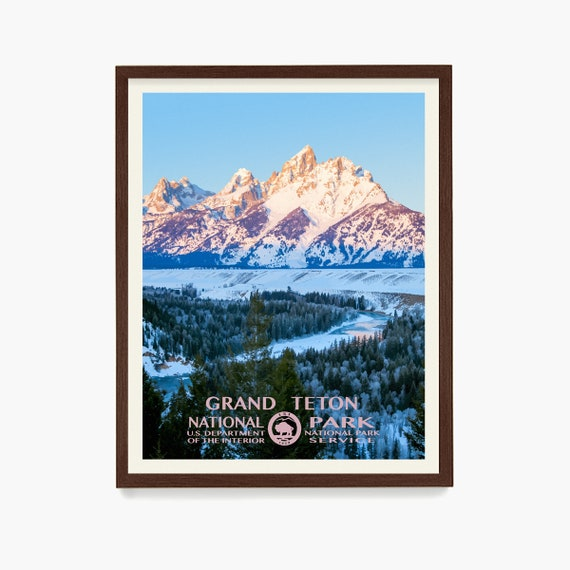 Grand Teton National Park Poster, Grand Teton Poster, National Park Art, WPA Poster, WPA Art, Grand Teton Art, Grand Teton Wpa, Wyoming