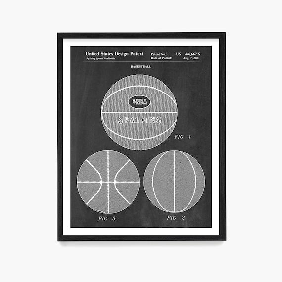 Basketball Patent Poster, Basketball Wall Art, Basketball Poster, Basketball Gift, Sports Theme Room, Girls Room Wall Art, Boys Room Wall