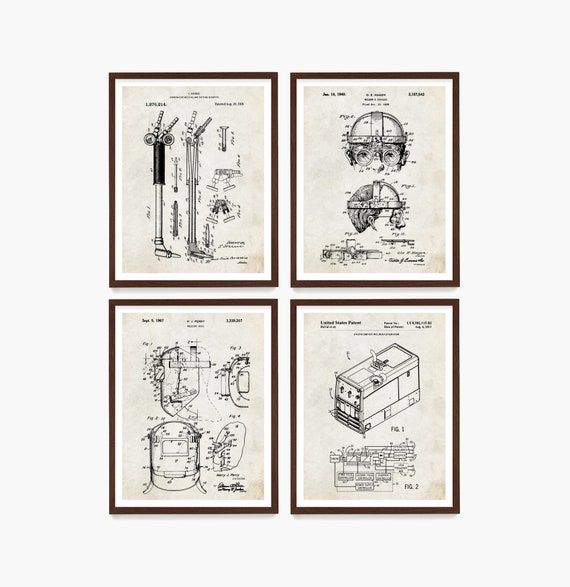 Welding Patent Poster, Welding Wall Art, Welder Gift, Garage Decor, Construction Poster, Contractor Gift, Welding Goggles Patent