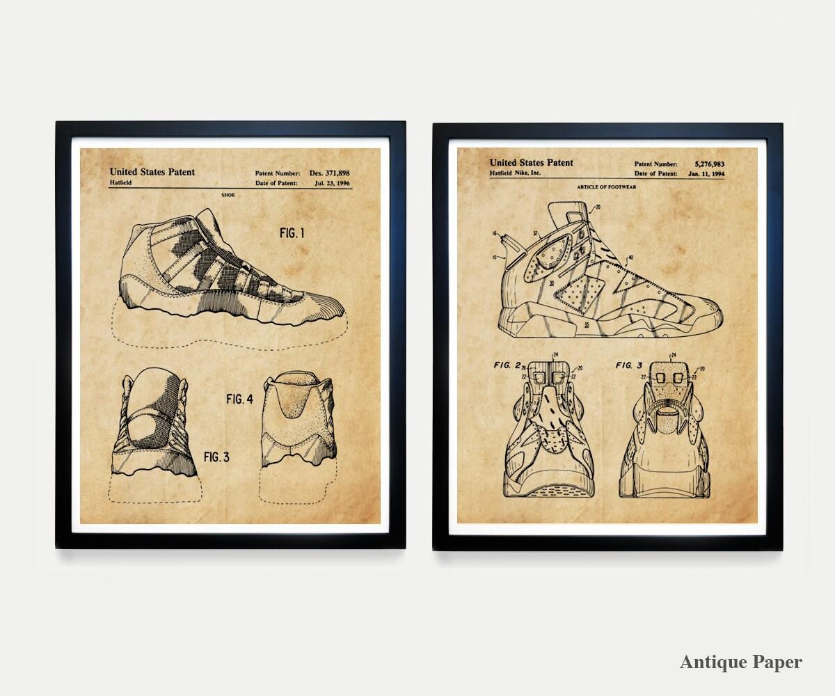 Nike Air Jordan Sneaker Patent Art