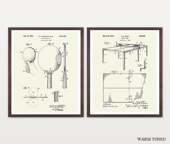 Table Tennis Patent Posters - Ping Pong - Table Tennis Art - Ping Pong Art - Ping Pong Paddle - Table Tennis Wall Art - Ping Pong Table