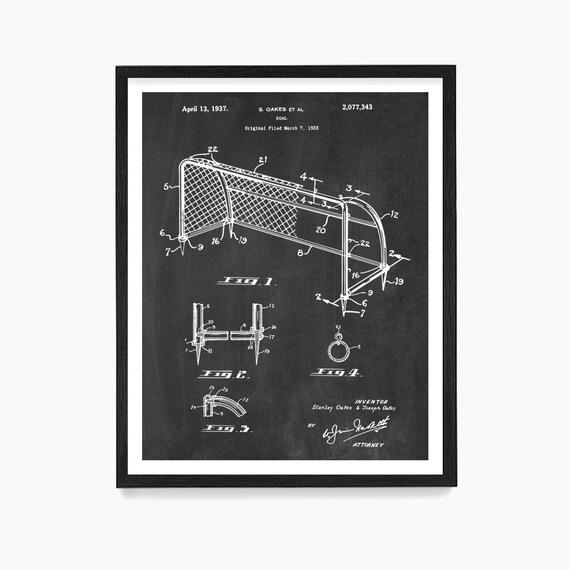 Soccer Art, Soccer Goal Patent, Soccer Poster, World Cup Wall Art, World Cup Poster, Soccer Gift, Soccer Decor