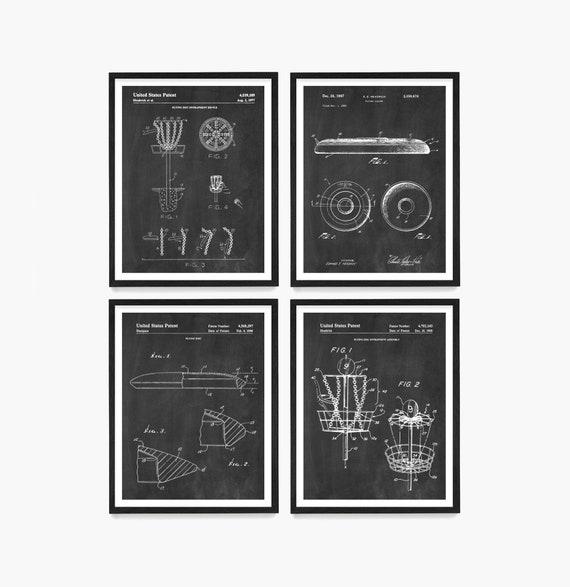 Frisbee Disc Golf Patent Wall Art Prints, Disc Patent, Frisbee Golf, Frisbee Golf Wall Art, Disc Golf Gift