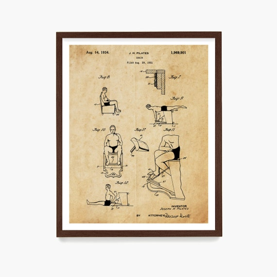 Pilates Patent Art, Pilates Poster, Pilates Decor, Pilates Studio, Exercise, Exercise Poster, Exercise Machine, Gym Wall Art, Pilates Gift