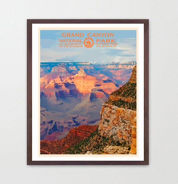 Grand Canyon National Park - Grand Canyon National Park Poster - National Park Art - WPA - WPA Poster  WPA Art - Grand Canyon Poster