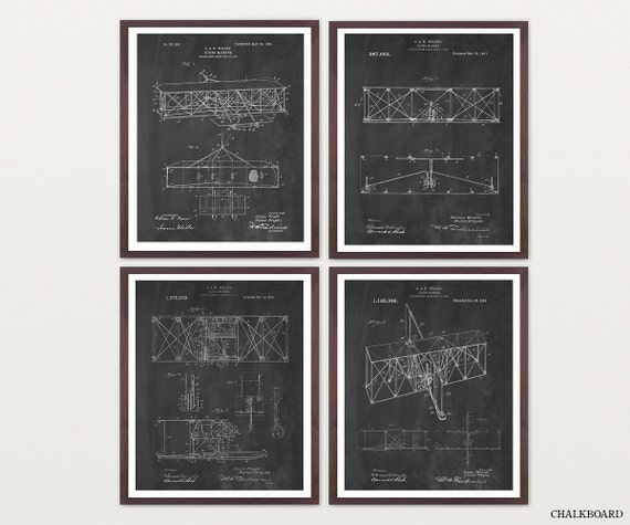 Wright Brothers Patent Art - Wright Brothers Poster - Airplane Art - Airplane Poster - Airplane Patent - Aviation - Wright Brothers Plane