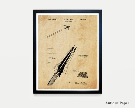 Missile Patent Art - Missileer - US Air Force - Air Force Art - Air Force Poster - Military Wall Art - Military Decor - Air Force Decor