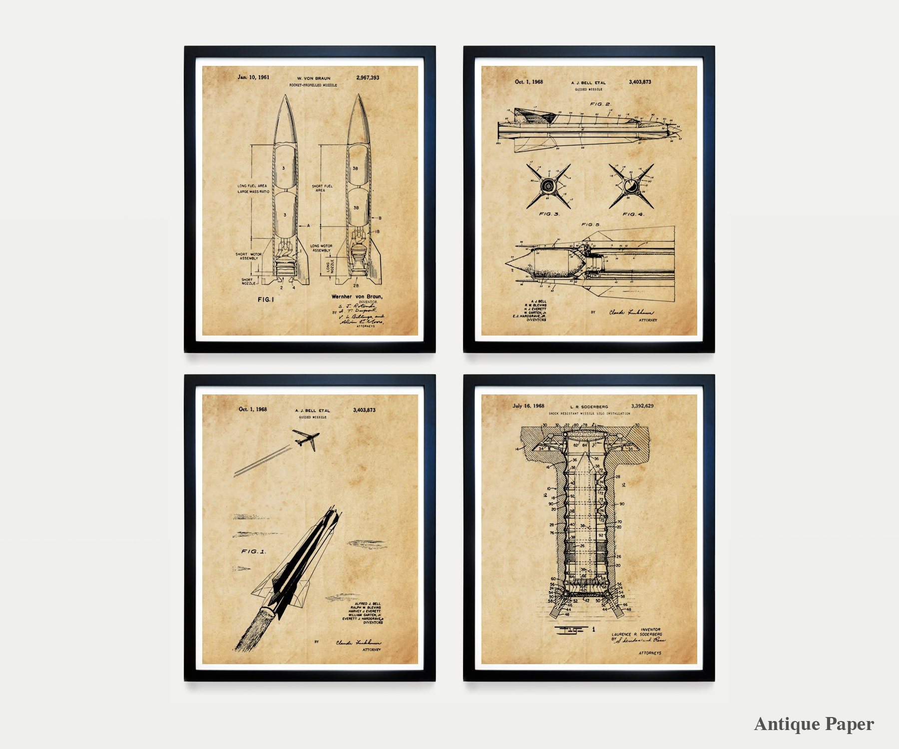 Missile Patent Art - Missileer - US Air Force - Air Force Art - Air ...