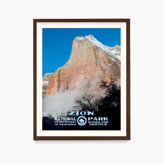 Zion National Park Poster, Zion Poster, Zion Art, California Art, National Park Poster, WPA Poster, WPA Art, National Park Gift
