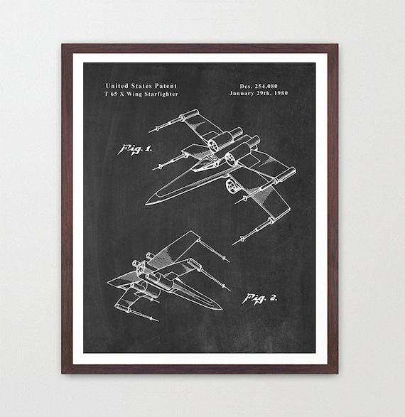 Star Wars - X Wing - Star Wars Patent - Star Wars Poster - X Wing Patent - Star Wars Art - Sci Fi Poster - Spacecraft - Sci Fi Art