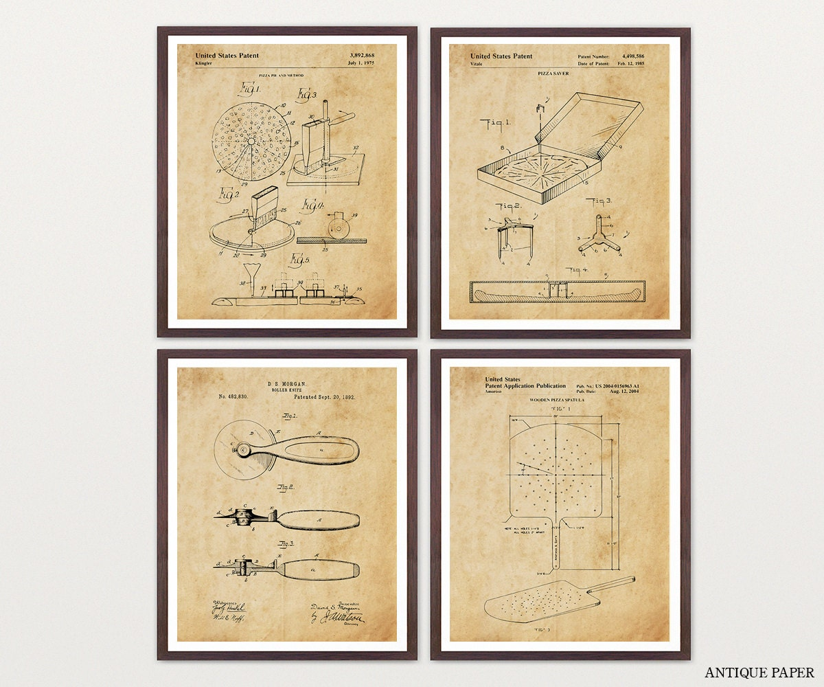 Pizza Patent Art - Pizza Art - Pizza Wall Art - Pizza Poster - Pizza ...