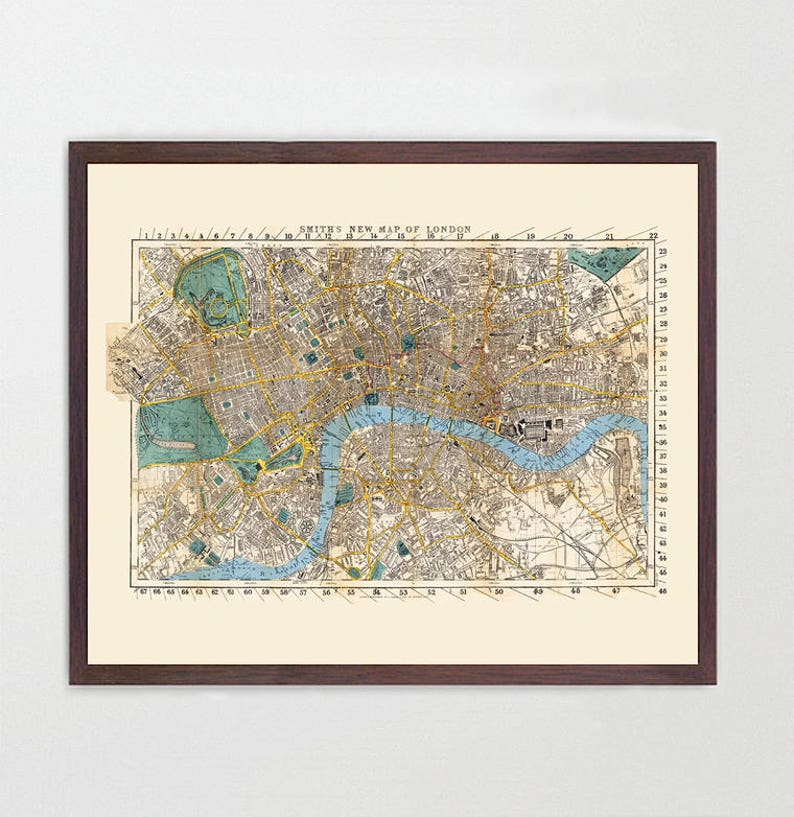 England Map London.London Map England Map Art Map Decor Vintage Map Great Britain United Kingdom Uk Map London Map London City Map London Art