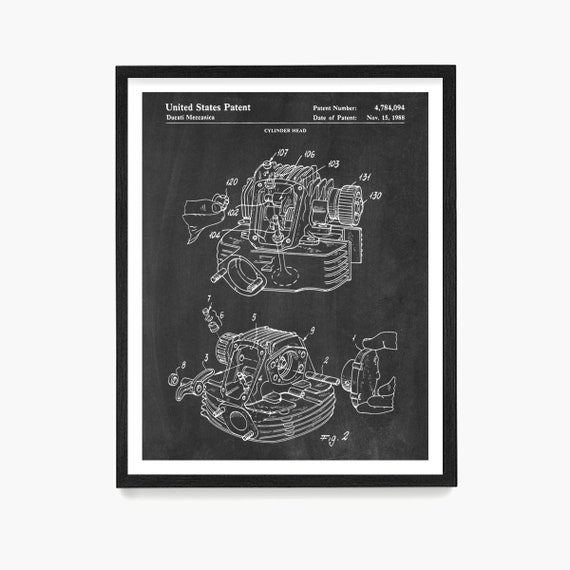 Motorcycle Patent Art, Motorcycle Poster, Motorcycle Wall Art, Motorcycle Gift, Vintage Biker Art