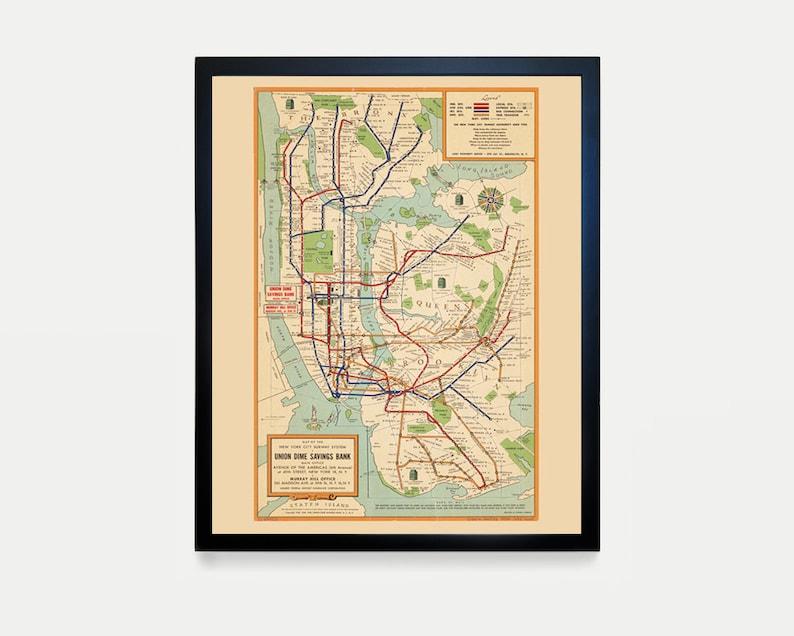 Map Of New York Subway Map.New York City Subway Map Subway Map Art Map Decor New York Map New York City Art Subway Map Art New York City Wall Art Nyc