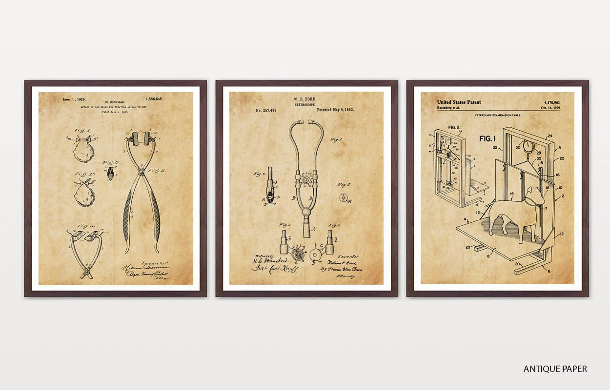 Veterinarian Patent Posters - Veterinarian Art - Vet Wall Art ...