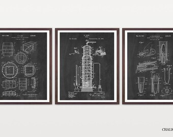 Whiskey - Whiskey Patent Prints - Inventions of Whiskey - Whiskey Barrel - Whiskey Still - Vintage Whiskey - Bourbon - Bourbon Art  Wall Art