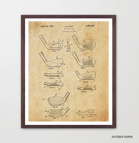 Golf Poster - Golf Art - Golf Club Poster - Golf Wall Art - Golf Gift - Patent Print - Patent Poster - Dad Gift - Golf Patent - Golf Clubs