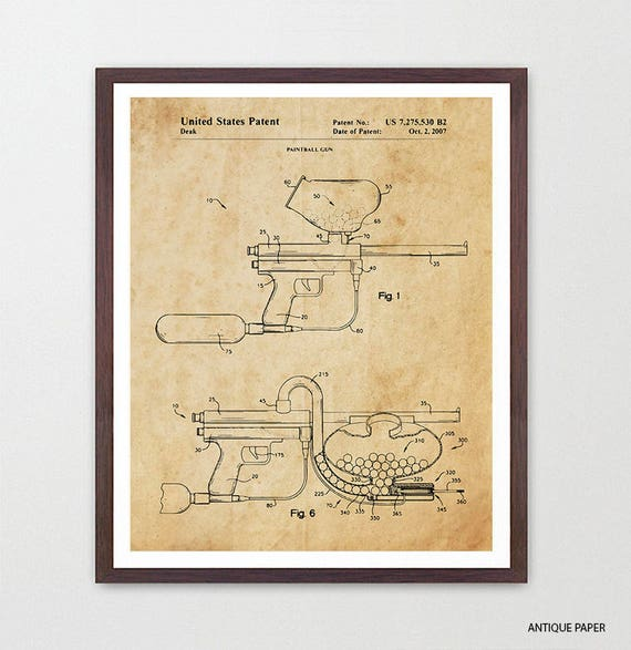 Paintball - Paintball Gun - Paintball Patent - Paintball Art - Paintball Poster - Paintball Gun Patent - Paintball Gun Art - Paintball Game