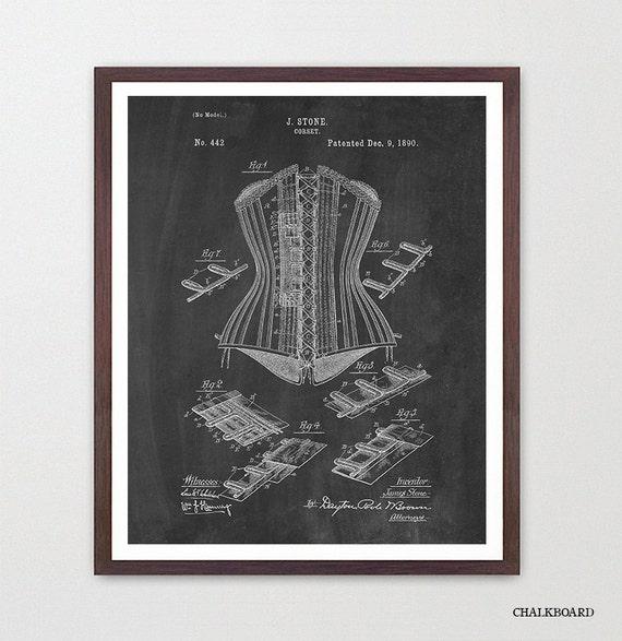 Corset - Corset Patent -Women's Fashion - Fashion Patent - Fashion Poster - Corset Patent - Dress Patent - Dress - Dress Poster - Lingerie