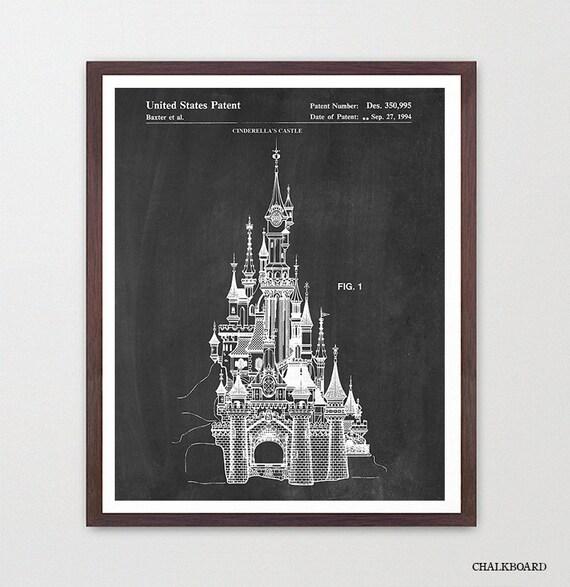 Disneyland Patent Art - Disneyland Patent print - Cinderella - Magic Kingdom - Disneyland - Disney World Art - Girls Room Art - Girls Room