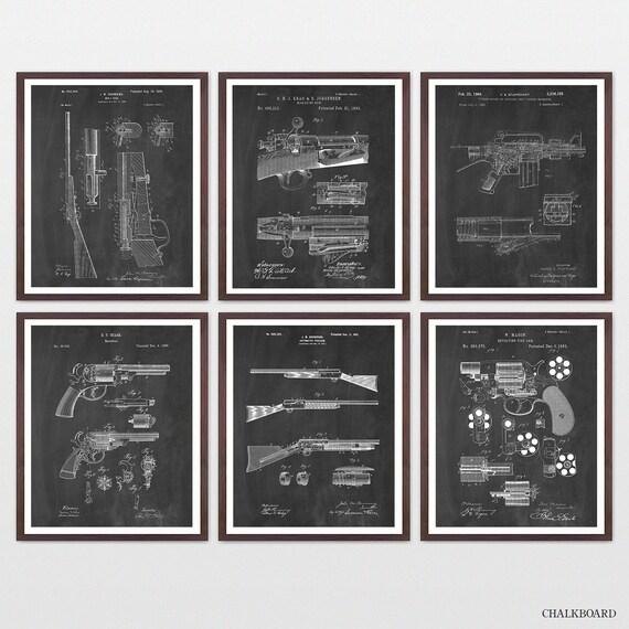 Ultimate Gun Patent Collection - Gun Art - Firearm Patent - Firearm Art - Gun Poster - Gun Wall Art - Rifle Patent - M16 Patent - Revolver