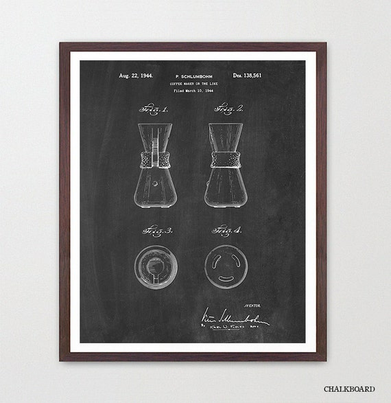 Coffee Patent - Coffee Maker - Kitchen Patent - Kitchen Poster - Coffee Art - Kitchen Decor - Kitchen Wall Art - Coffee Patent - Cafe Art