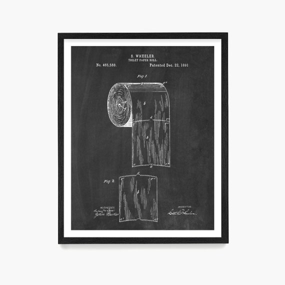 Bathroom Patent Art, Toilet Patent, Bathroom Wall Art, Bathroom Decor, Toilet Paper Patent, Bathroom Poster, Bathroom Renovation, Guest Bath