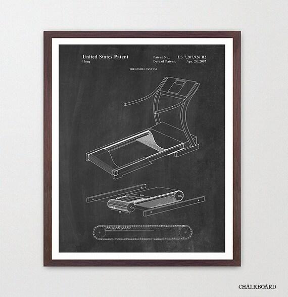 Treadmill Patent - Treadmill Poster - Gym Art - Exercise Poster - GYM Patent - Exercise - Workout - Fitness Art - Fitness Poster - Running