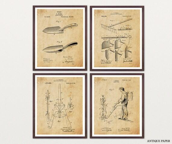 Garden Patent Collection - Garden Art - Garden Patent Poster - Garden Poster - Gardening - Gardener - Trowel - Garden Wall Decor - Vegetable