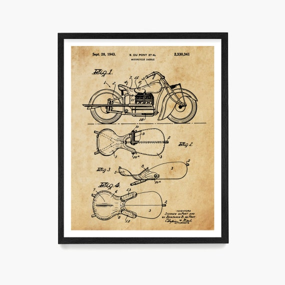 Indian Motorcycle Patent, Indian Motorcycle Art Indian Motorcycle Poster, Motorcycle Patent, Motorcycle Art, Motorcycle Gift, Vintage Biker