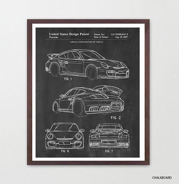 Porsche GT3 2007 Patent Print - Porsche Patent - Porsche Patent Print - Classic Cars - Car Patent - GT3 - Carrera Patent - Porsche Art