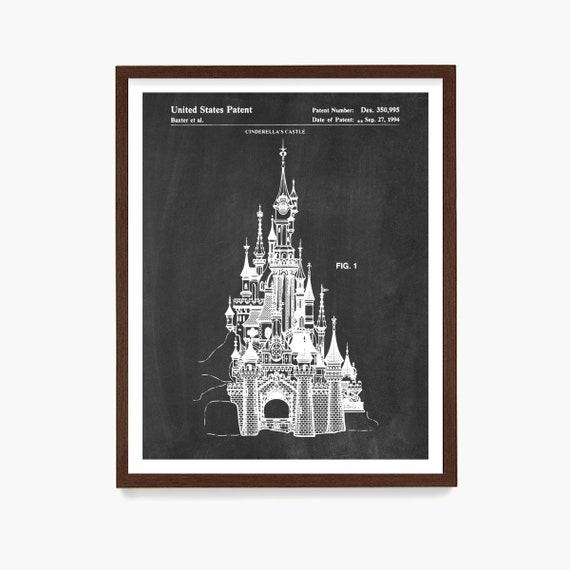 Disneyland Patent Art, Disneyland Patent print, Magic Kingdom, Disneyland, Disney World Art, Girls Room Art, Girls Room Poster, Kids Room