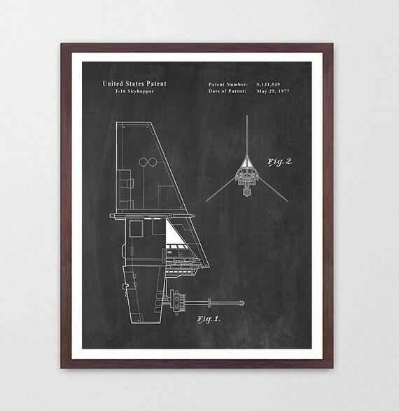 Star Wars Patent, Skyhopper, Star Wars Poster, Star Wars Art, Skyhopper Patent, Star Wars Wall Art ,Star Wars Gift, Star Wars Gift